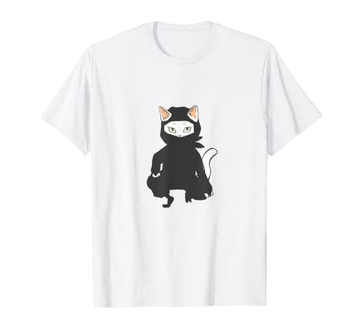 Amazon.com: Anime Ninja Kitty Cat T-Shirt Martial Arts ...
