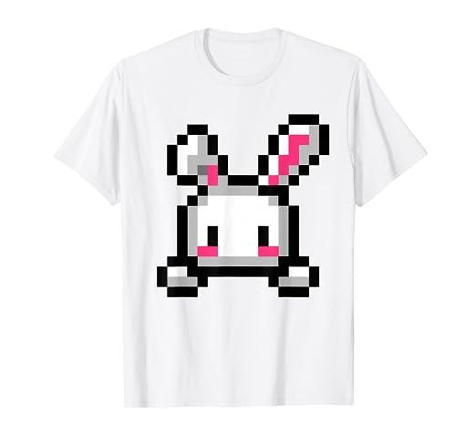 Amazon Com Pixel Art Shirt Bunny Rabbit Cute Kawaii 8 Bit