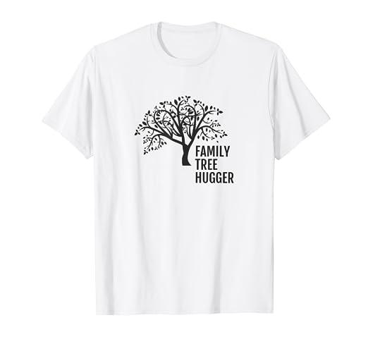Amazon Com Funny Genealogist Genealogy T Shirt Family Tree Hugger