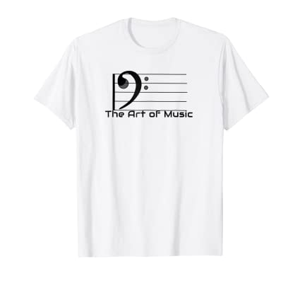 The Art of Music Tee Shirt for musicians students & teachers