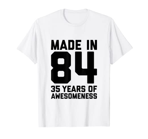 Image Unavailable Not Available For Color 35th Birthday Shirt Women 35 Year Old Men Gifts