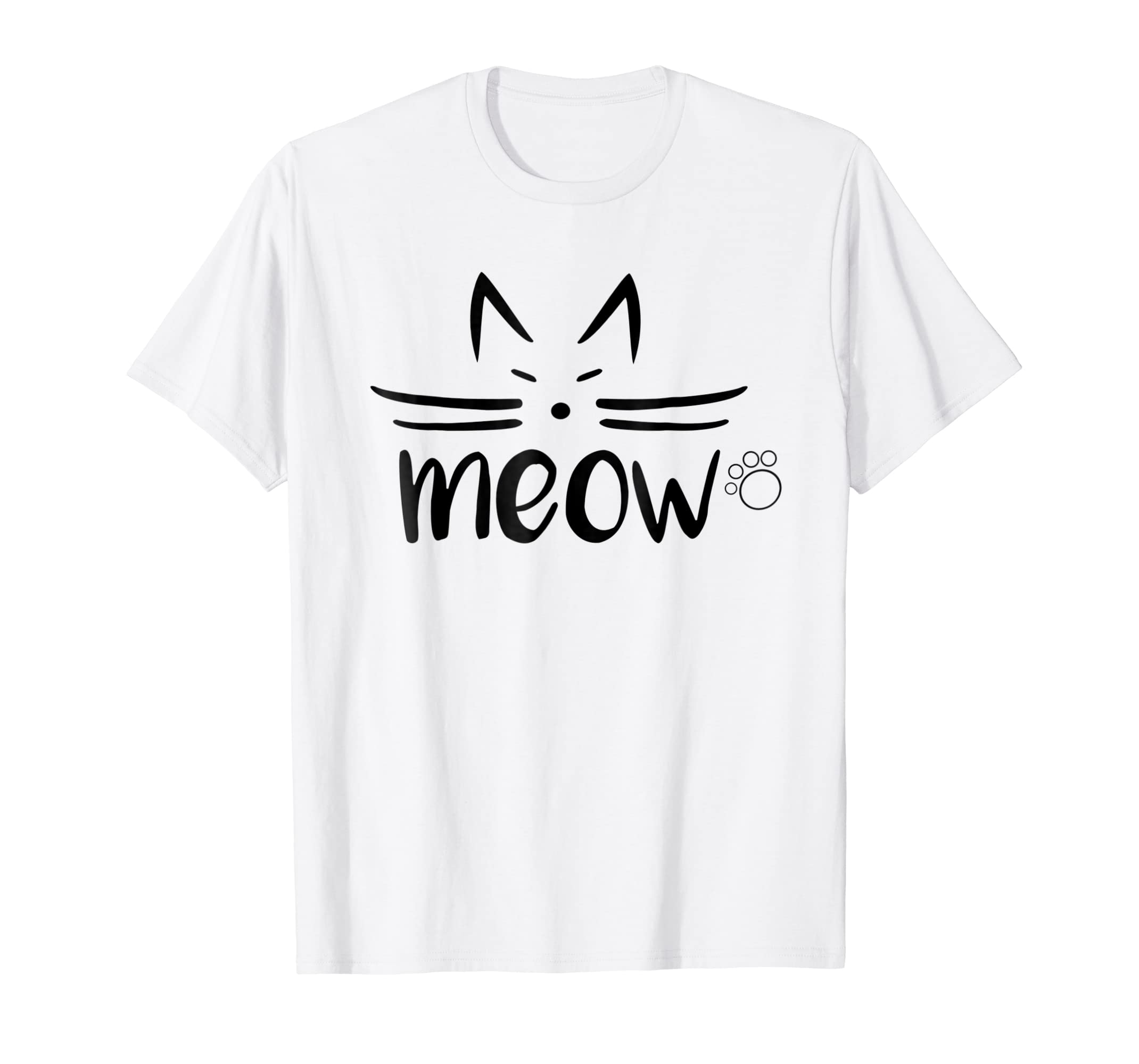 951fb38cf Amazon.com: MEOW Tshirt for Women - Cool Tshirt Designs For Girls: Clothing