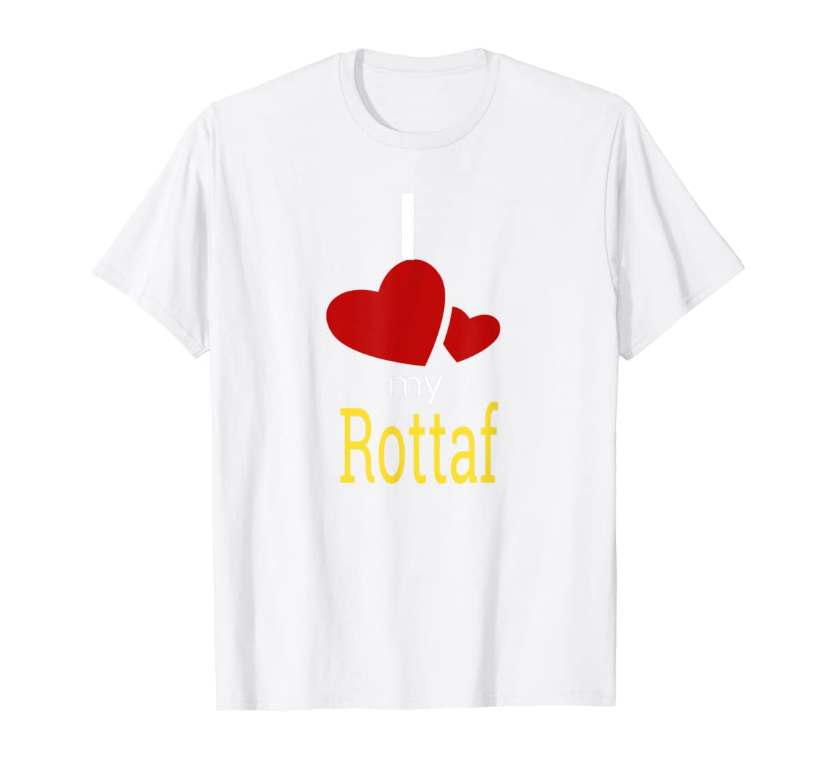 Rottaf Dog Shirt Love Rottweiler + Afghan Hound =  T-Shirt-Men's T-Shirt-White