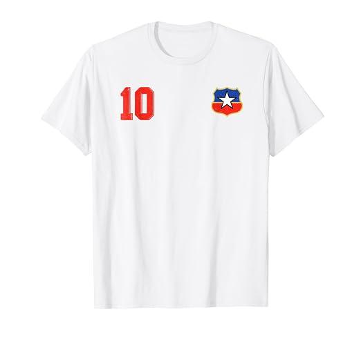 Camiseta Futbol Chile Soccer La Roja T-Shirt number 10 away