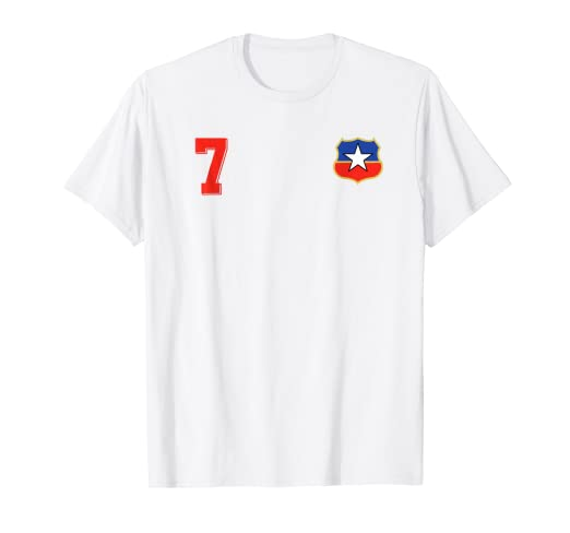 Camiseta Futbol Chile Soccer La Roja T-Shirt number 7 away
