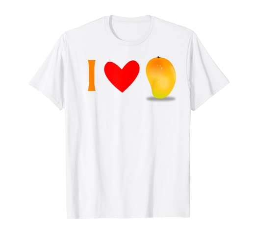 ae9483706e8a3 Image Unavailable. Image not available for. Color: I Love Mango Fruit Tee  Shirt