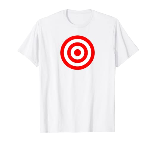 d25126ae4c Image Unavailable. Image not available for. Color: Bullseye Red & White  Shooting Rings Target Funny Tee Shirt