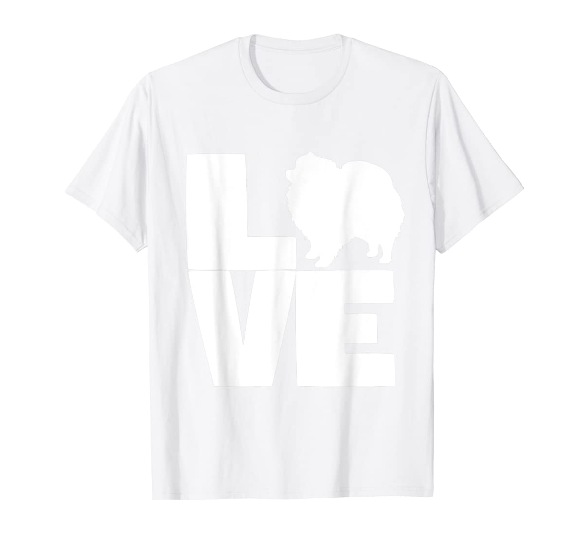 I Love Pomeranians Pom Mom or Dad Pet Lover T Shirt-Men's T-Shirt-White