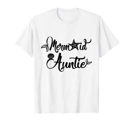 dbbde360c Image Unavailable. Image not available for. Color: Cute Womens Mermaid  Auntie gift Aunt T-Shirt