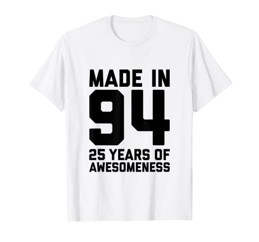 Image Unavailable Not Available For Color 25th Birthday Shirt Women 25 Year Old Men Gifts