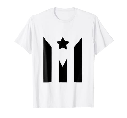 de320df30e7 Amazon.com  BLACK PUERTO RICO FLAG - PUERTO RICAN FLAG T-SHIRT  Clothing