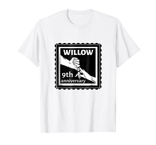 Amazon Com 9th Wedding Anniversary Traditional Gift Willow T Shirt