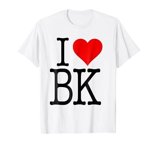 826de2eca Amazon.com: Cool I Love BK Brooklyn T-shirt: Clothing