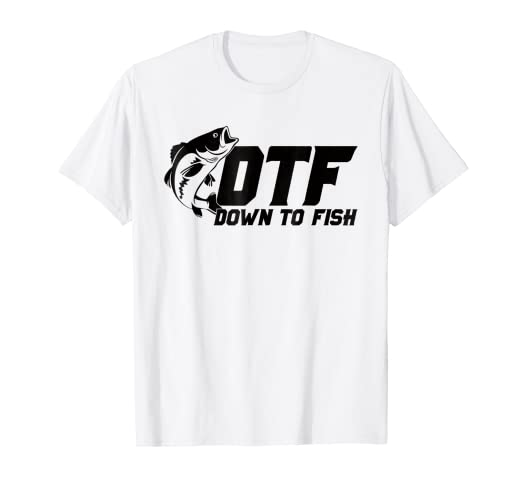 149d2079 Image Unavailable. Image not available for. Color: DTF Down to Fish | Men's  Funny Fishing T-Shirt