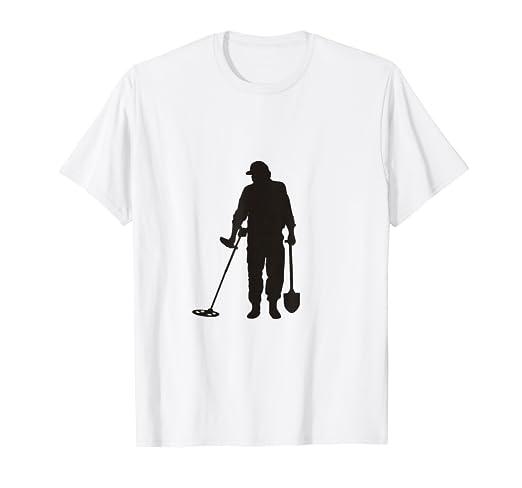 Amazon.com: Metal detector enthusiast T-Shirt - Hello, Gold ...
