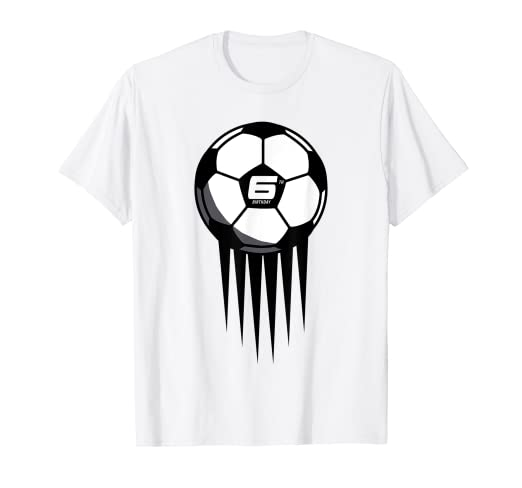 3c3cd52e Image Unavailable. Image not available for. Color: 6th Birthday Soccer T- Shirt for 6 years old