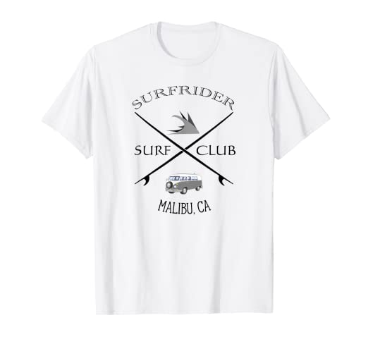 bb63e0978b5 Image Unavailable. Image not available for. Color: Surfrider Surf Club  T-Shirt Malibu California