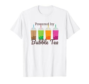 b8a4a5720c87e Amazon.com: Boba Tea Tee   Powered by Bubble Tea T-Shirt: Clothing