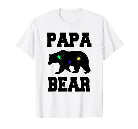 f34ae57eb0 Amazon.com  PAPA BEAR PAINTBALL T SHIRT College Sports Font  Clothing