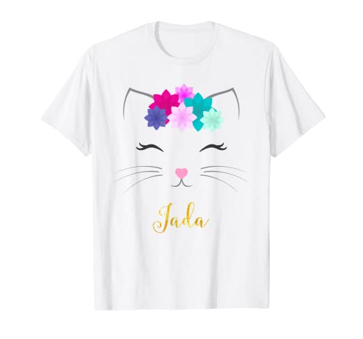 a5ceb116a Amazon.com: Jada Name Shirt Kitty Cat Personalized Birthday Gift ...