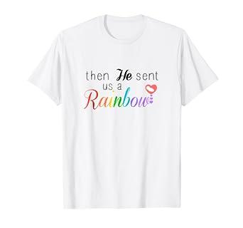 02349207a Amazon.com: Rainbow Pregnancy Tshirt Gift From God Religious Tee ...