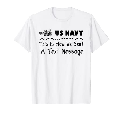 83e8f347be7b7 Amazon.com: US NAVY RADIOMAN CW Tshirt: Clothing