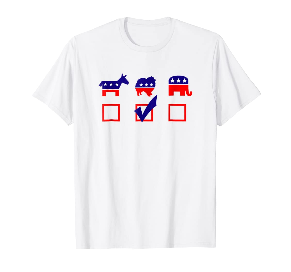 Vote Pomeranian For President T-shirt Cool Dog Lover Shirt-Men's T-Shirt-White