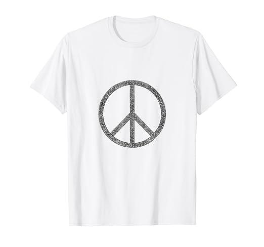 Amazon Symbol Of Peace Shirt Big Peace Sign T Shirt Clothing