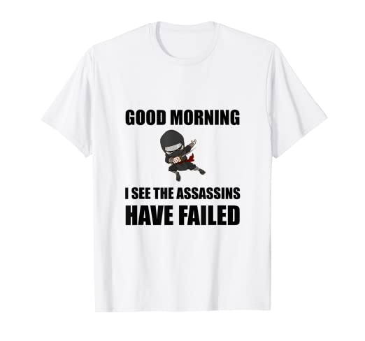 Amazon.com: Ninja Assassins Failed Funny T-Shirt: Clothing