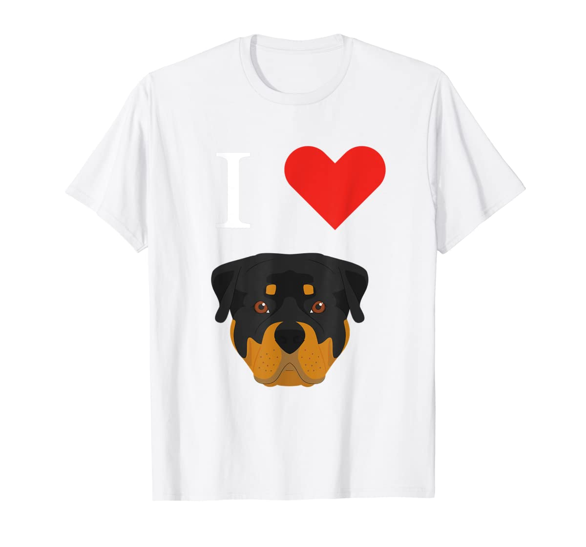I Love My Rottweiler Dog T-Shirt-Men's T-Shirt-White