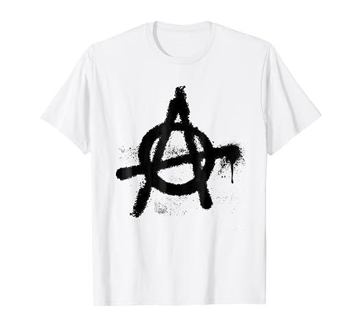 Amazon Classic Nostalgic Punk Rock Distressed Anarchy Symbol