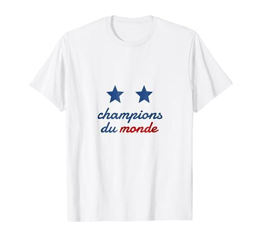Amazon Com T Shirt Champions Du Monde Coupe Du Monde 2018 Shirt