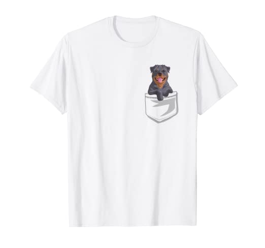 a78d14562 Amazon.com: Cute Rottweiler In your Pocket T-Shirt Fun Puppy Gift ...