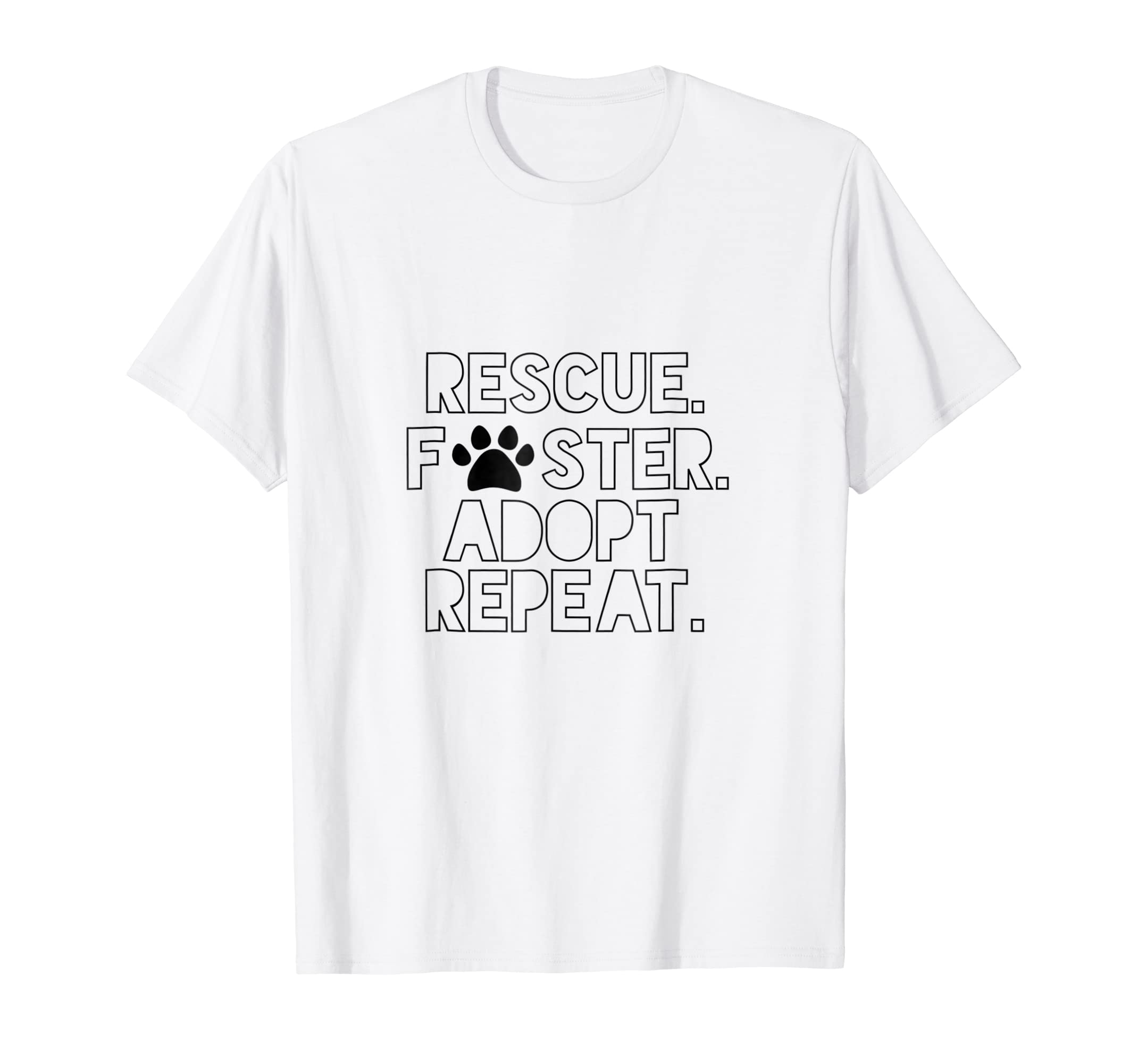 8fea2457d0a8 Amazon.com: Rescue Foster Dog Mom Adopt Don't Shop Repeat T-shirt: Clothing
