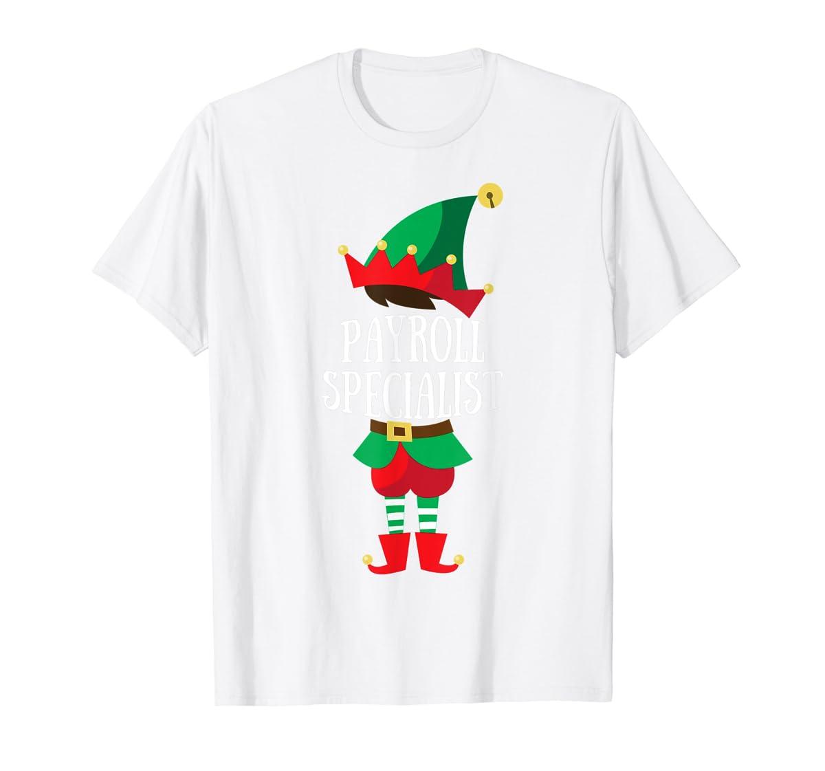 Elf Payroll Specialist Christmas Group Matching T-Shirt-Men's T-Shirt-White