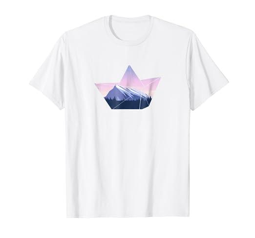 Amazon Boat Origami Graphic T Shirt Clothing