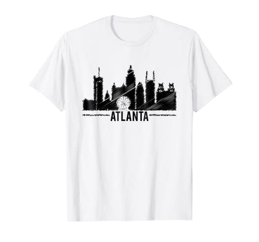 bb6876a8 Image Unavailable. Image not available for. Color: Atlanta Georgia City  Men's Women's Simple Design T-shirt