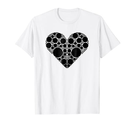bf8b75bd5a31 Amazon.com: Black Polka Dot Heart   Polka Dot Shirt Girls & Women ...