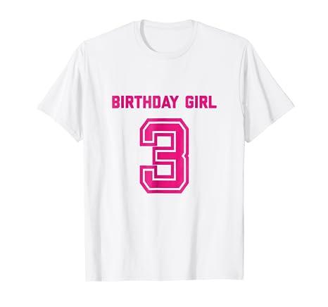 3rd Birthday Shirt Gift Age 3 Year Old Girl Tshirt Girls Tee