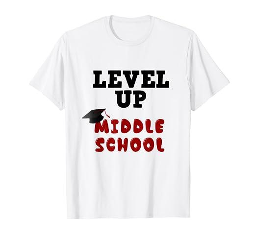 3ff716683a Amazon.com  Level Up Middle School 5th Grade Graduation Gift T-Shirt ...