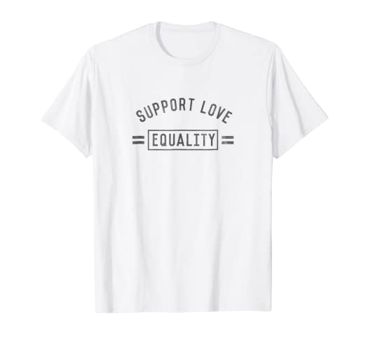 4e0d52066d Image Unavailable. Image not available for. Color: Well Worn Support Love  Equality Pride T-Shirt