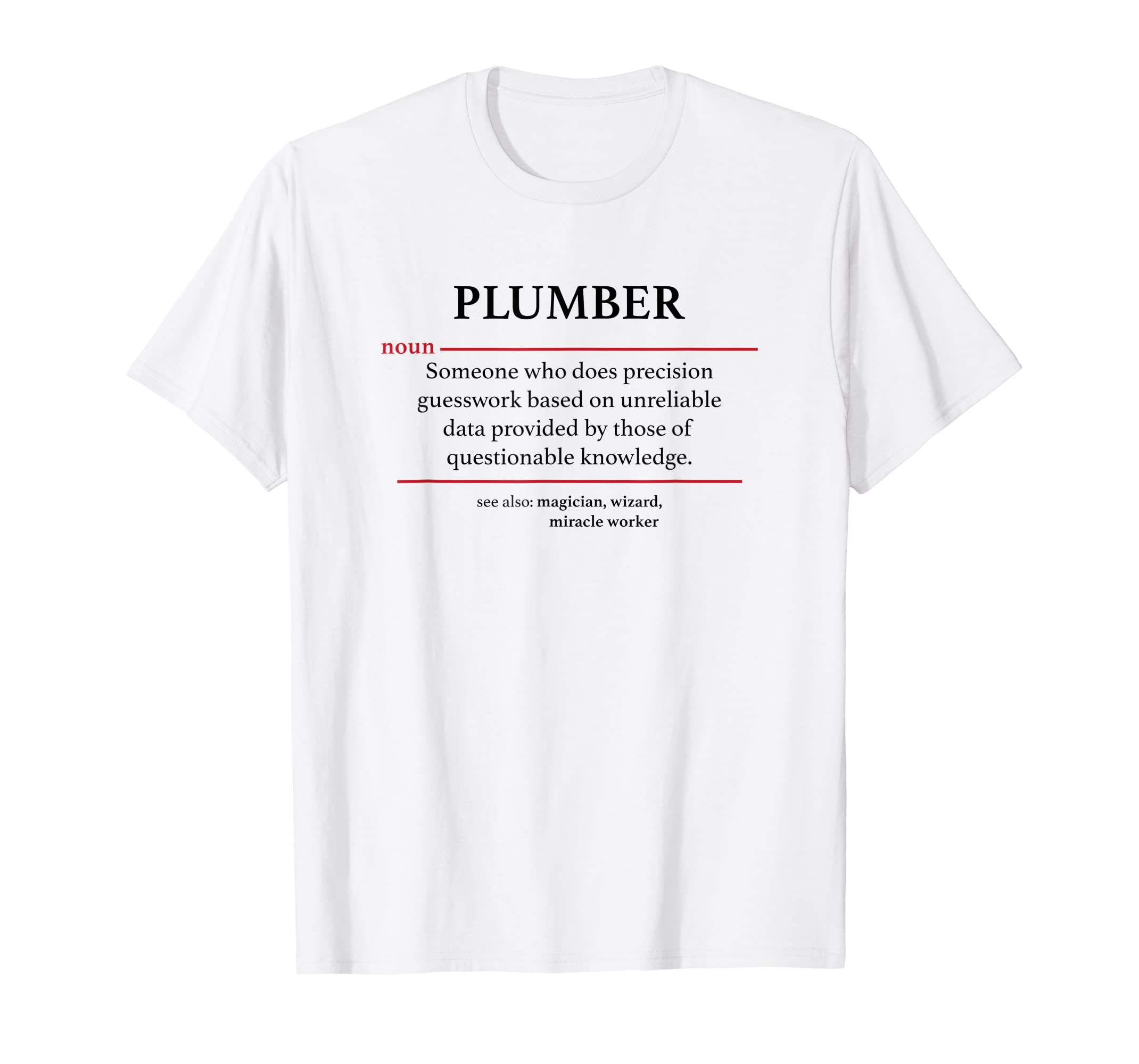 Amazon com: Definition Plumber Funny Plunger Work T-Shirt: Clothing