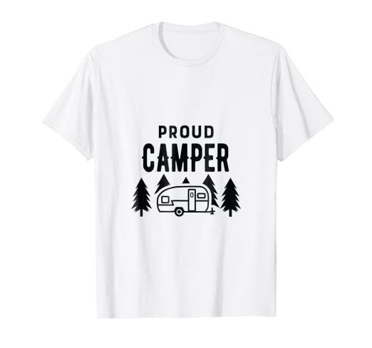 db11c0d5944 Image Unavailable. Image not available for. Color  Proud Camper Funny Cute T  Shirt for Women Men Kids Camping