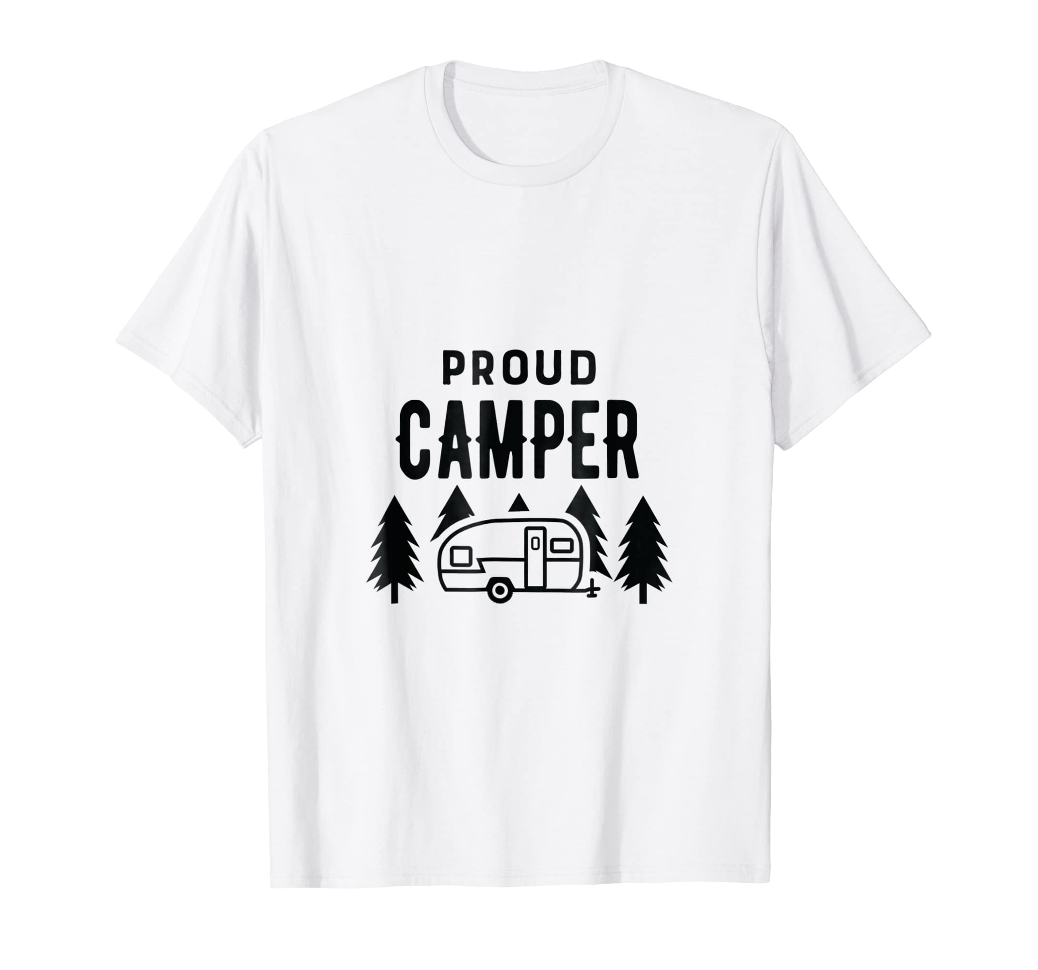 7883fdce7961 Amazon.com  Proud Camper Funny Cute T Shirt for Women Men Kids Camping   Clothing