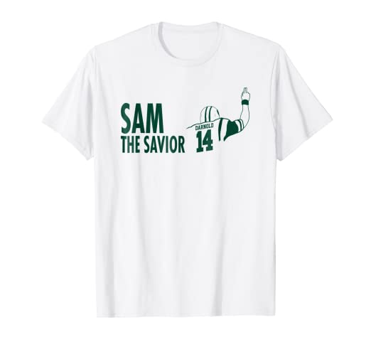 Image Unavailable. Image not available for. Color  Sam  quot The  Savior quot  Darnold Jets Namath Homage Graphic T-Shirt 52b3d1424