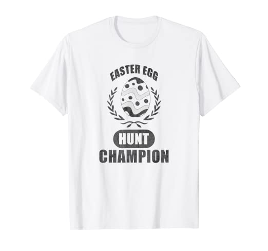 23160db5a609 Image Unavailable. Image not available for. Color  Easter Egg Hunt Champion  easter tshirt for boys
