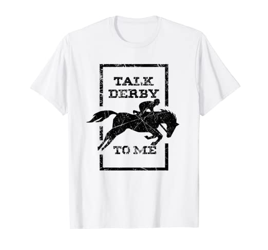 9e992c66cf Image Unavailable. Image not available for. Color: Comic Women T-Shirt I Talk  Derby Me Funny Horse Race Gift