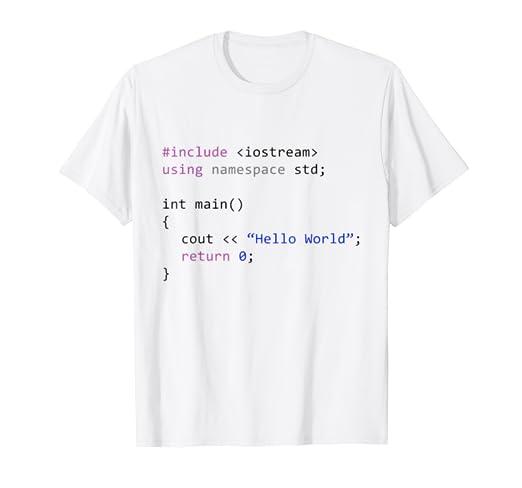 Amazon Com Hello World First Program In Computer Science T Shirt