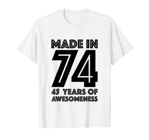 Amazon 45th Birthday Shirt Men Forty Five Women Gift 45 Year Old Clothing