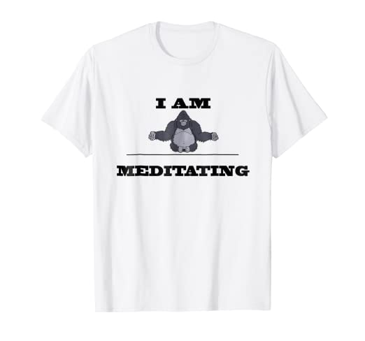 Amazon.com: I Am Ape Over Meditating Math Yoga Meditation T ...